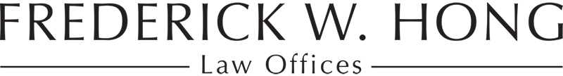 Frederick W. Hong LAW OFFICES